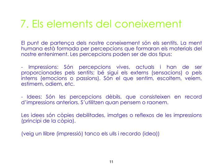 7. Els elements del coneixement