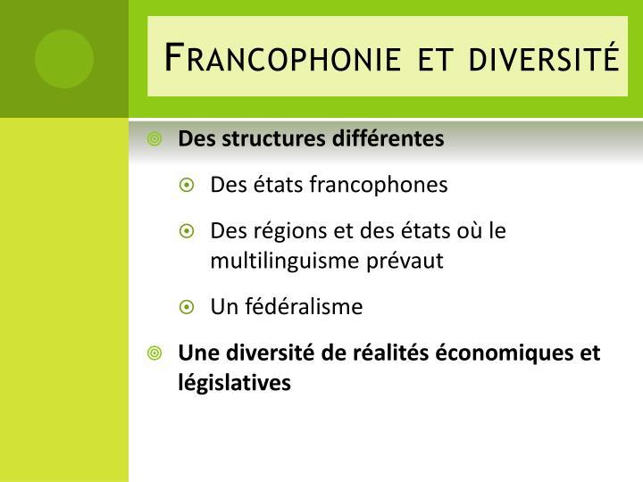 Francophonie et diversit