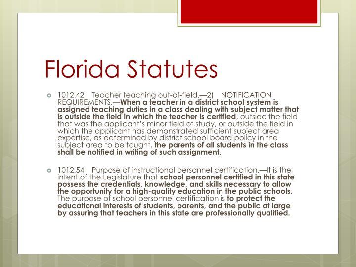 Florida Statutes