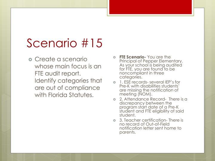 Scenario #15
