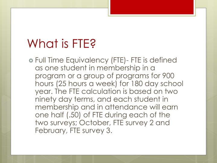 What is fte
