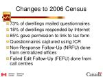 changes to 2006 census