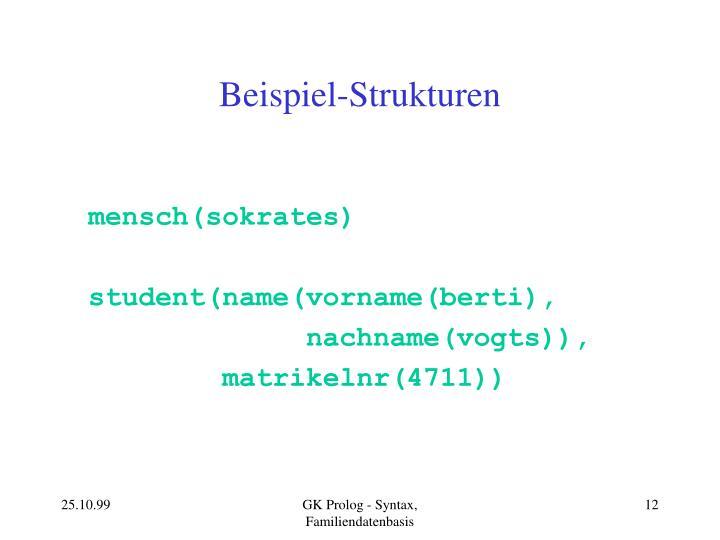 Beispiel-Strukturen
