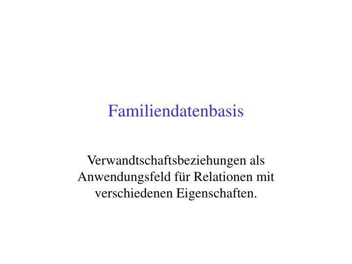 Familiendatenbasis