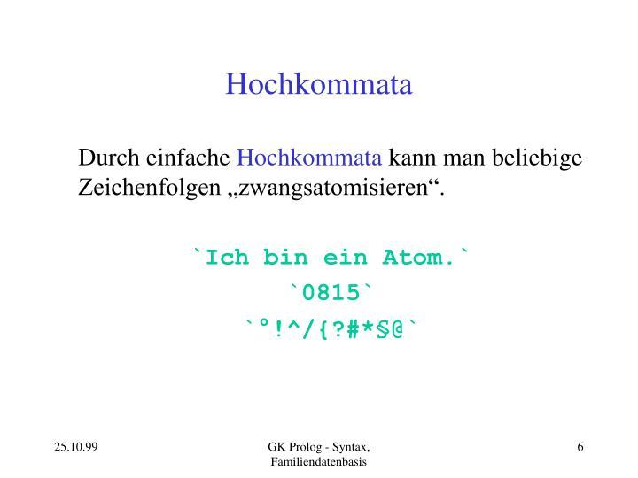 Hochkommata
