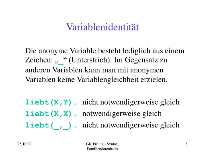 Variablenidentität