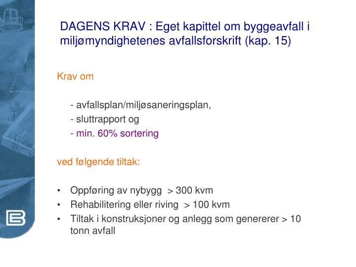 DAGENS KRAV :