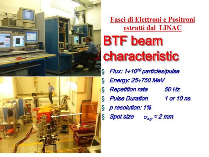 BTF beam characteristic