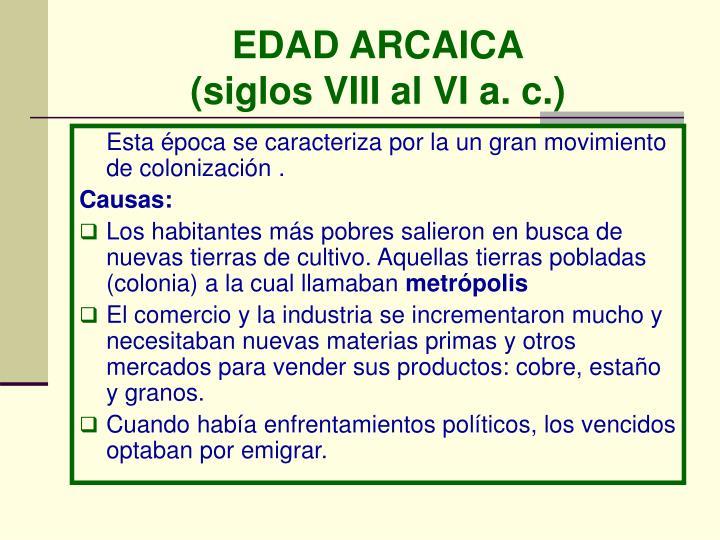 EDAD ARCAICA