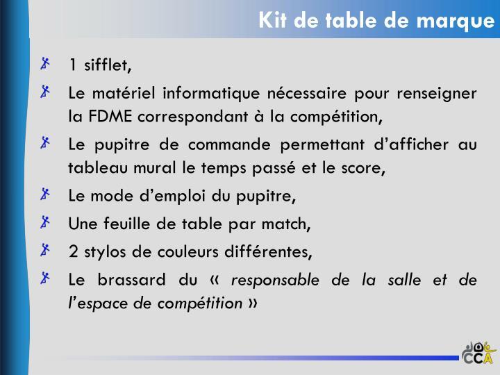 Kit de table de marque1