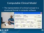 computable clinical model