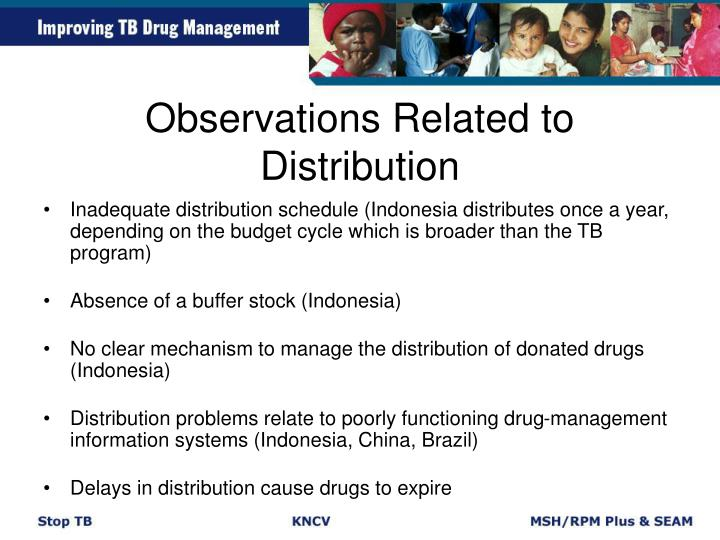 Observations Related to Distribution