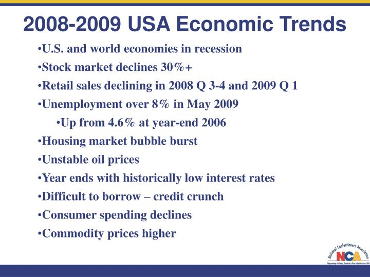 U.S. and world economies in recession