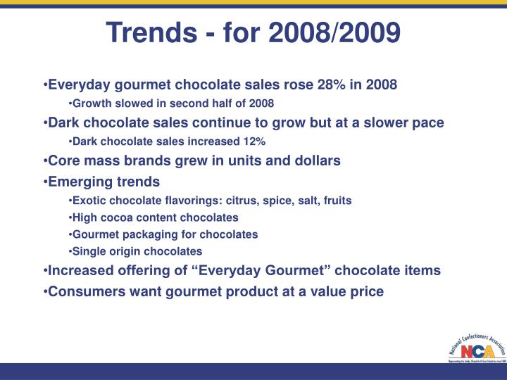 Trends - for 2008/2009