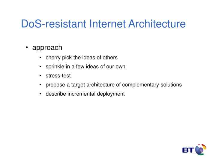 DoS-resistant Internet Architecture