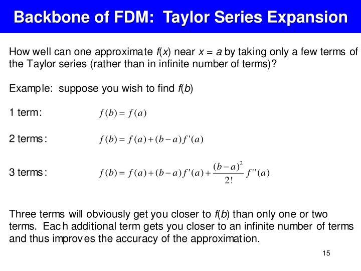 Backbone of FDM:  Taylor Series Expansion