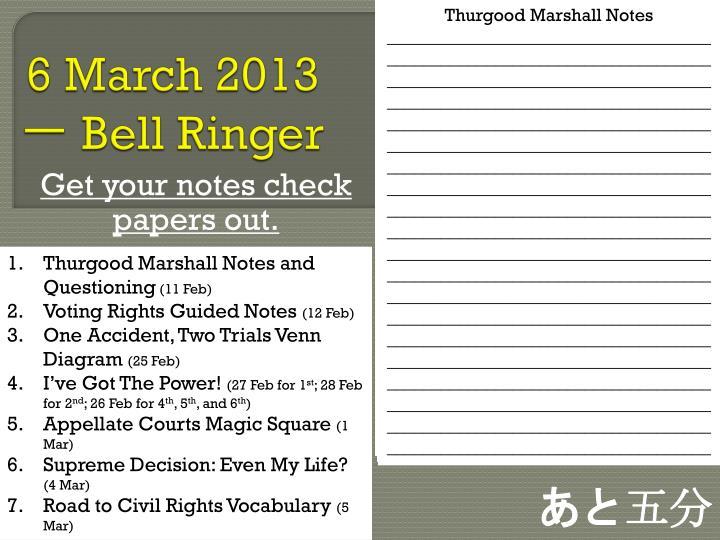 6 march 2013 bell ringer1