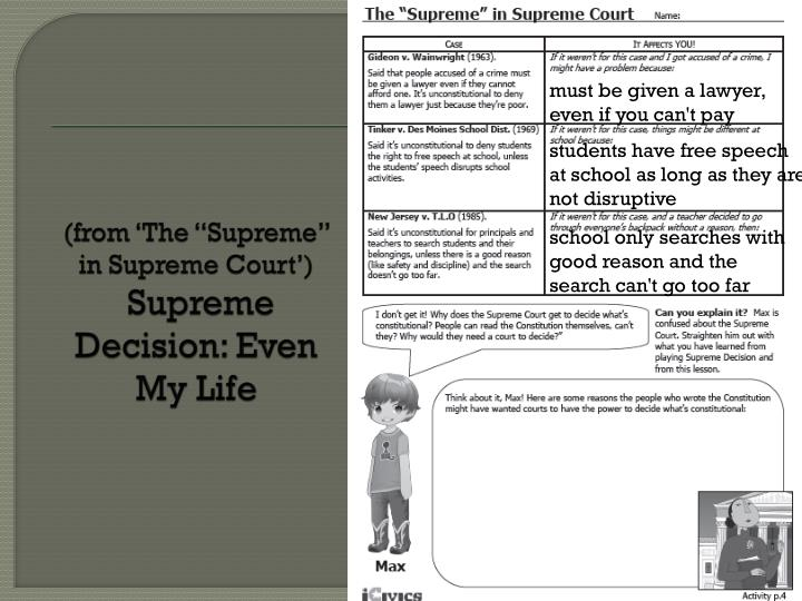 """(from 'The """"Supreme"""" in Supreme Court')"""