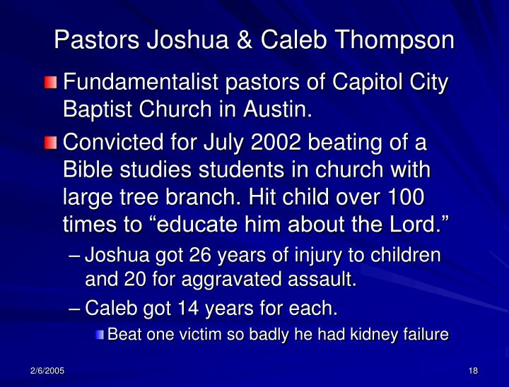 Pastors Joshua & Caleb Thompson