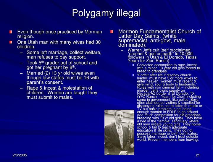 Polygamy illegal