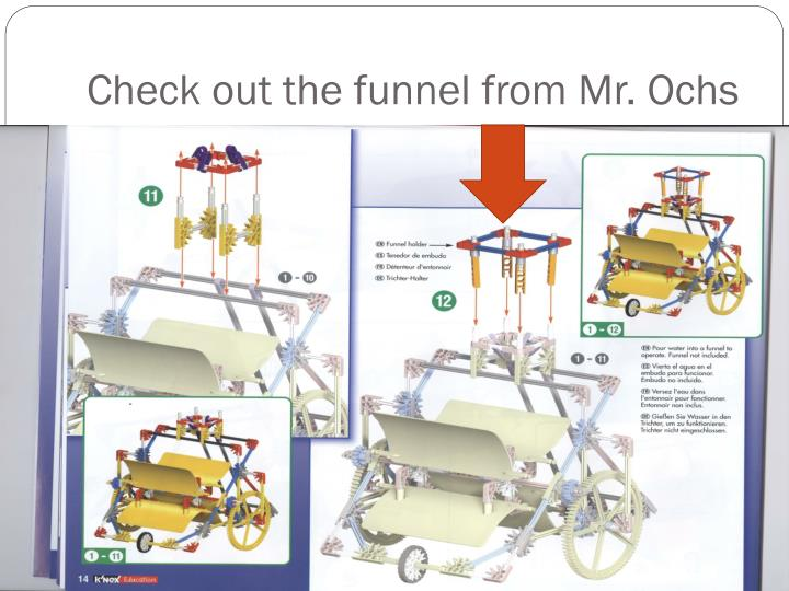 Check out the funnel from Mr. Ochs