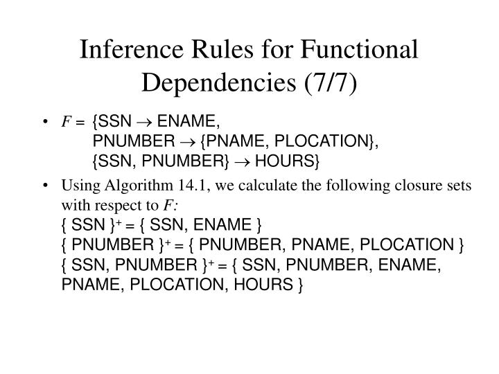 Inference Rules for Functional Dependencies (7/7)