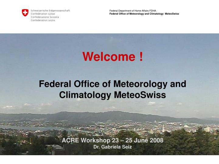 federal office of meteorology and climatology meteoswiss n.