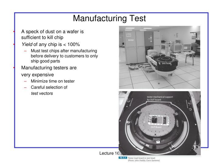 Manufacturing Test