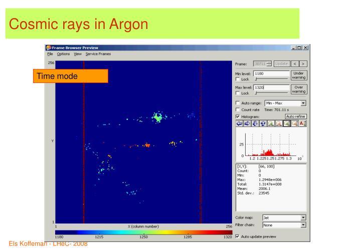 Cosmic rays in Argon