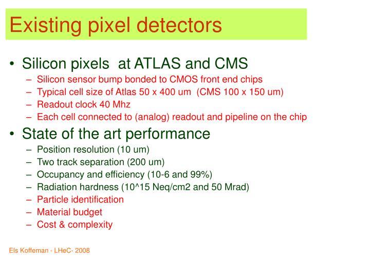 Existing pixel detectors