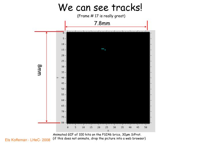 We can see tracks!