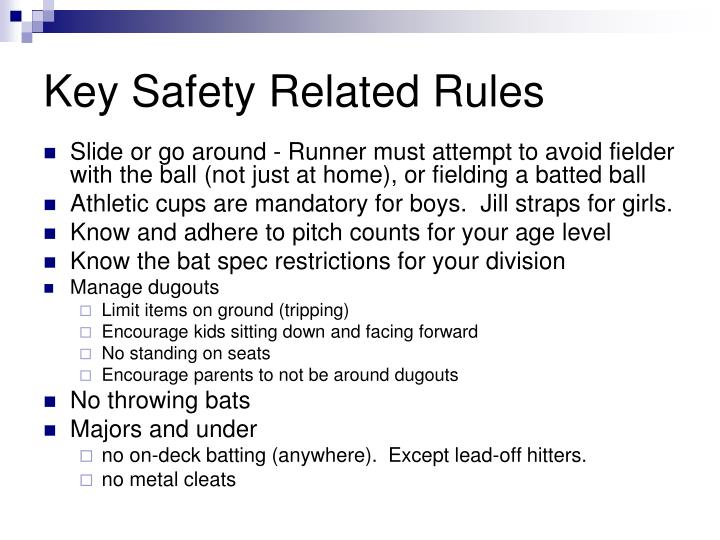 Key Safety Related Rules