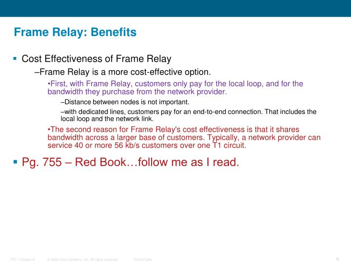 Frame Relay: Benefits