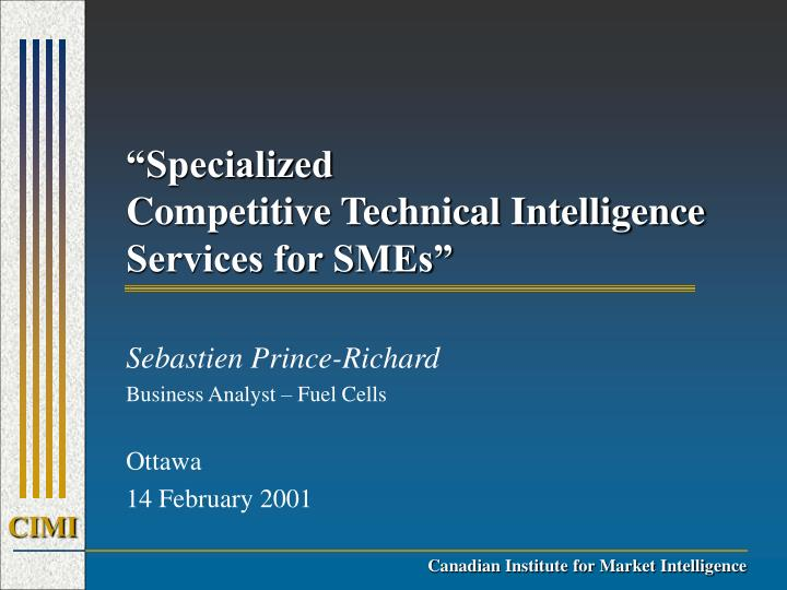 specialized competitive technical intelligence services for smes n.
