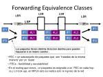 forwarding equivalence classes