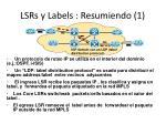 lsrs y labels resumiendo 1