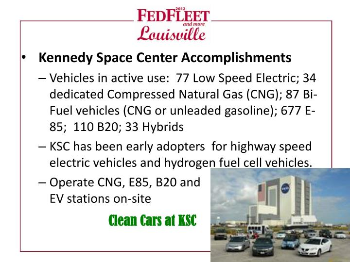 Kennedy Space Center Accomplishments