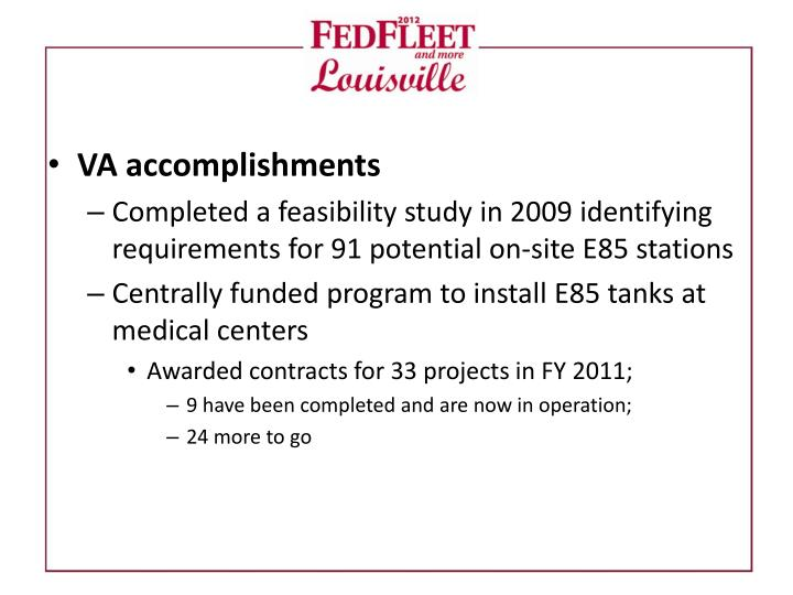 VA accomplishments