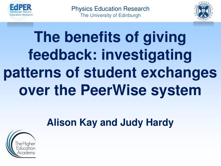 The benefits of giving feedback: investigating patterns of student exchanges