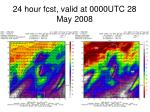 24 hour fcst valid at 0000utc 28 may 2008