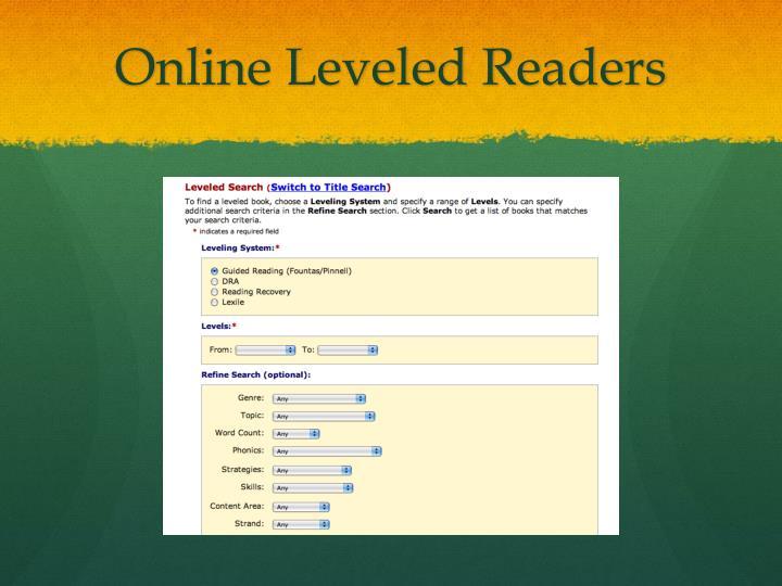 Online Leveled Readers