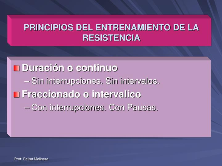 PRINCIPIOS DEL ENTRENAMIENTO DE LA RESISTENCIA