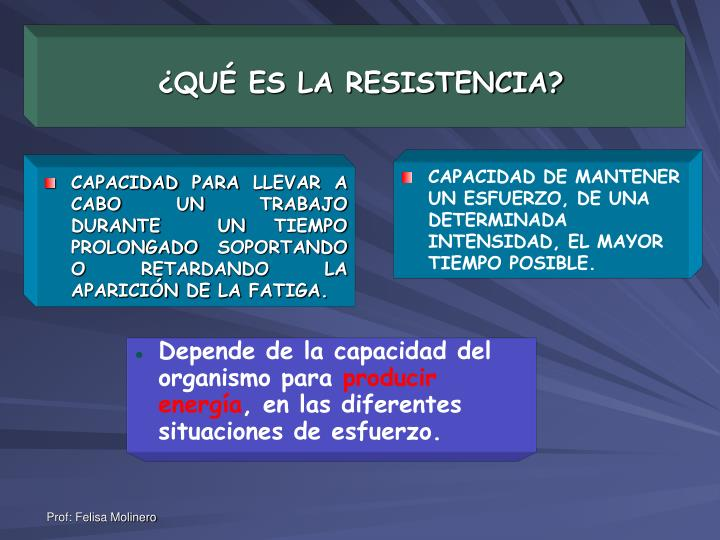 Qu es la resistencia