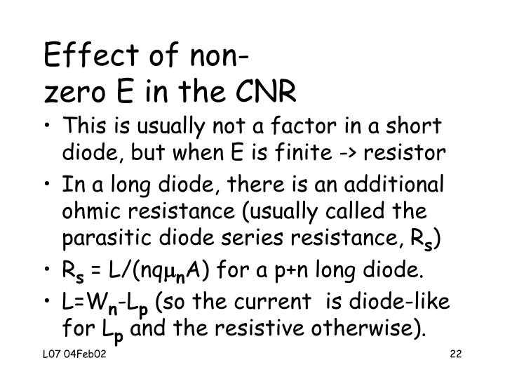 Effect of non-