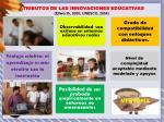 atributos de las innovaciones educativas ellworth 2000 unesco 2004