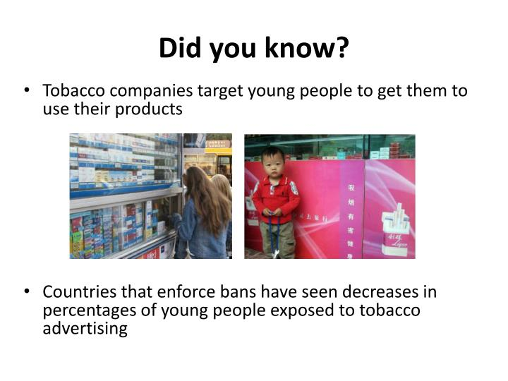 an overview of the tobacco companies targeting young people in the nineties The tobacco industry has directly played to many young queers' experience of oppression using buzzwords like freedom and choice, cigarette companies promise lgbtq teens exactly what a widely homophobic, trans-phobic culture doesn't the fact that this freedom comes packaged in a gesture.