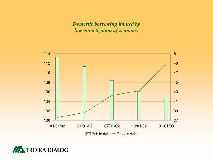 Domestic borrowing limited by