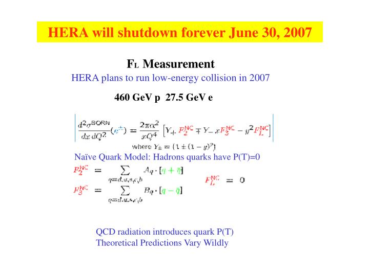 HERA will shutdown forever June 30, 2007