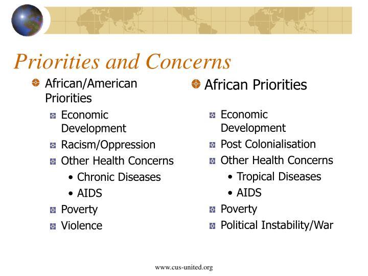African/American Priorities