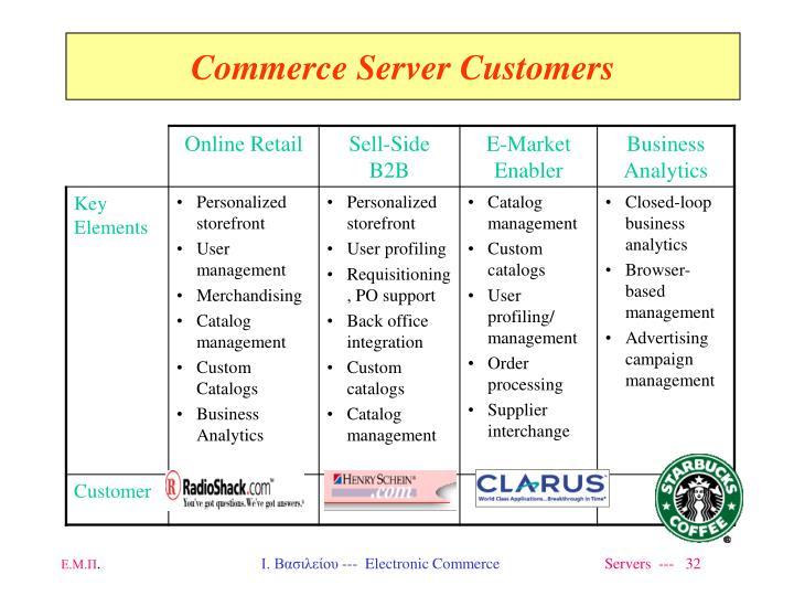 Commerce Server Customers